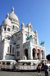 The Sacre Coeur or the white ice cream cone in the Paris sky.
