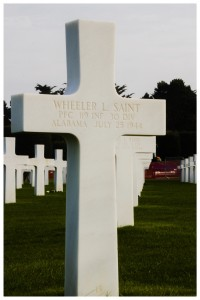 The cross of an Alabama soldier
