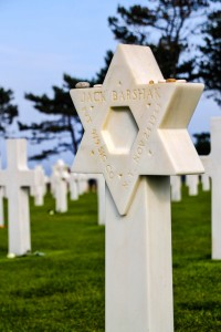 The marker for a Jewish soldier who gave his life