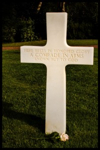 The grave of an unknown soldier, the most touching of all