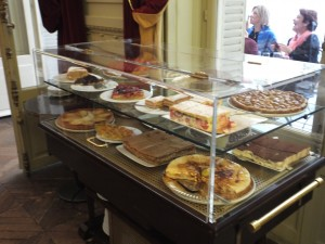 The pastry cart filled with exquisite French desserts