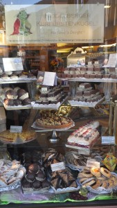 Yummy German pastries along the longest shopping street in Germany in the heart of old town.