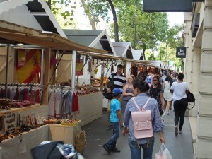 Street fair along Boulevard Saint-Germain