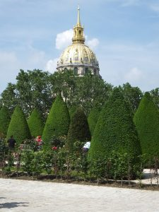 Les Invalides from the Rodin Museum, where Napoleon is buried.