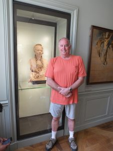 Tony Porter enjoying the Rodin Museum