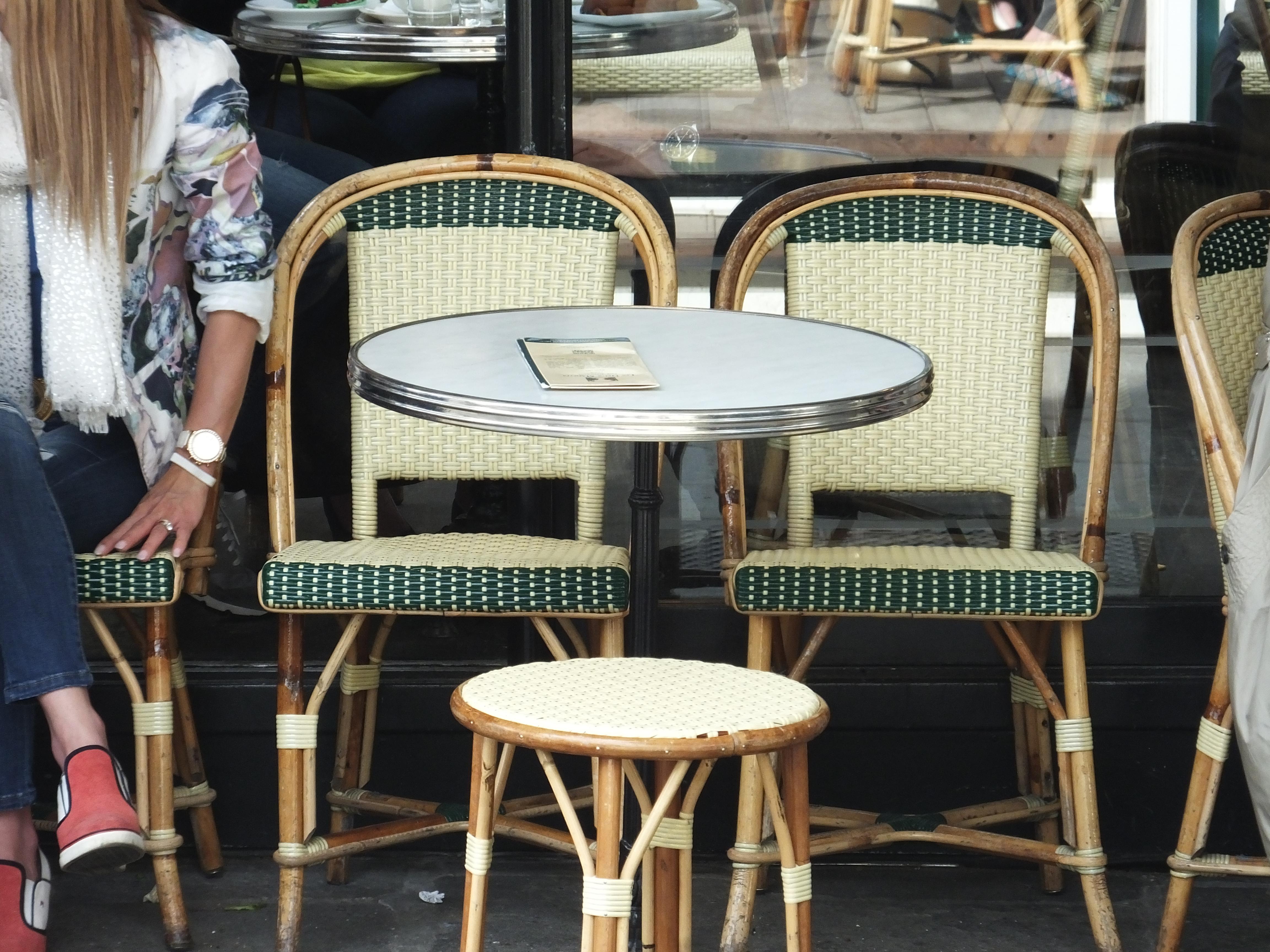 Café chairs at Les Deux Magots
