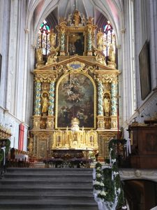 Altar of the church