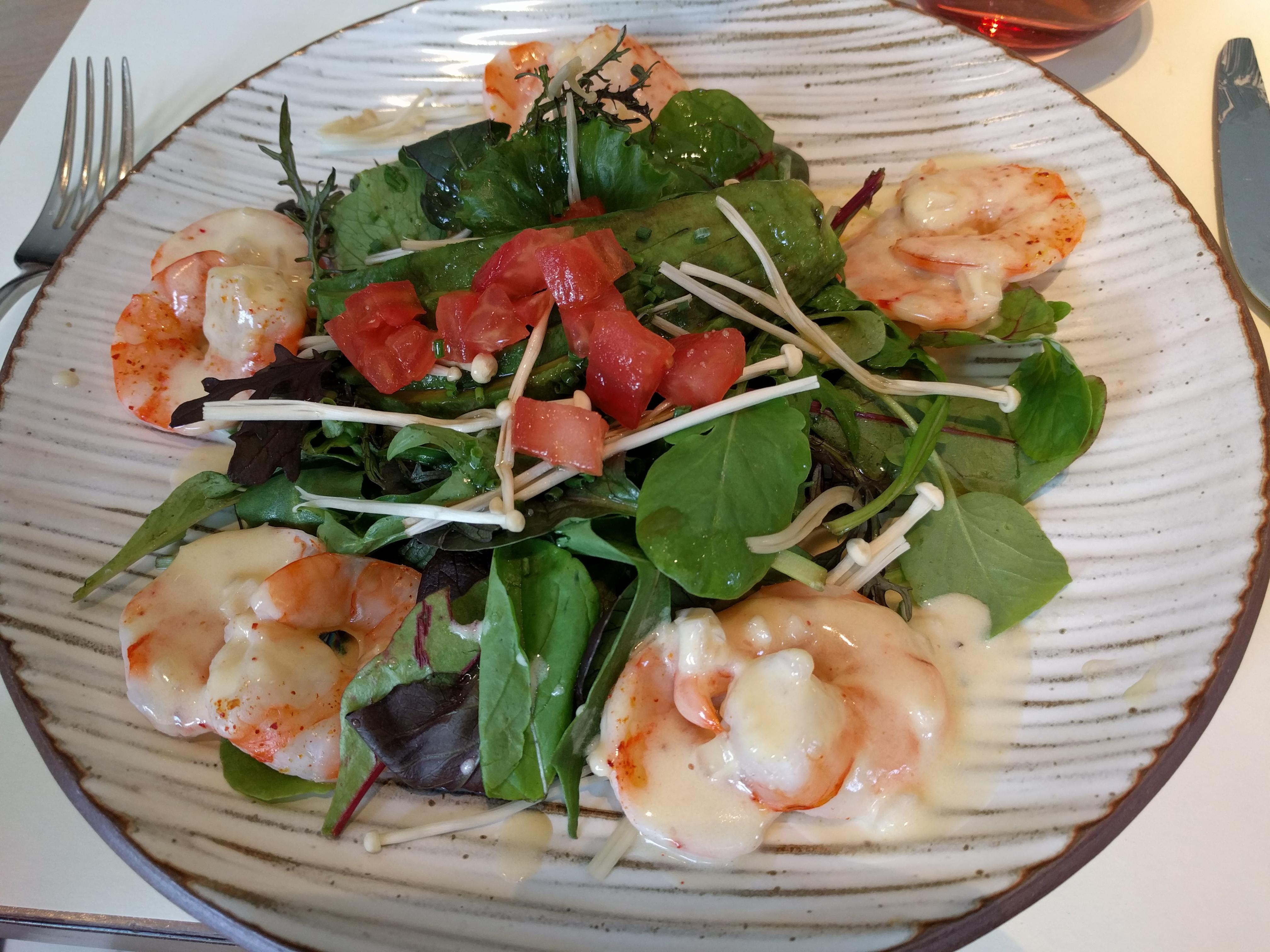 My shrimp salad