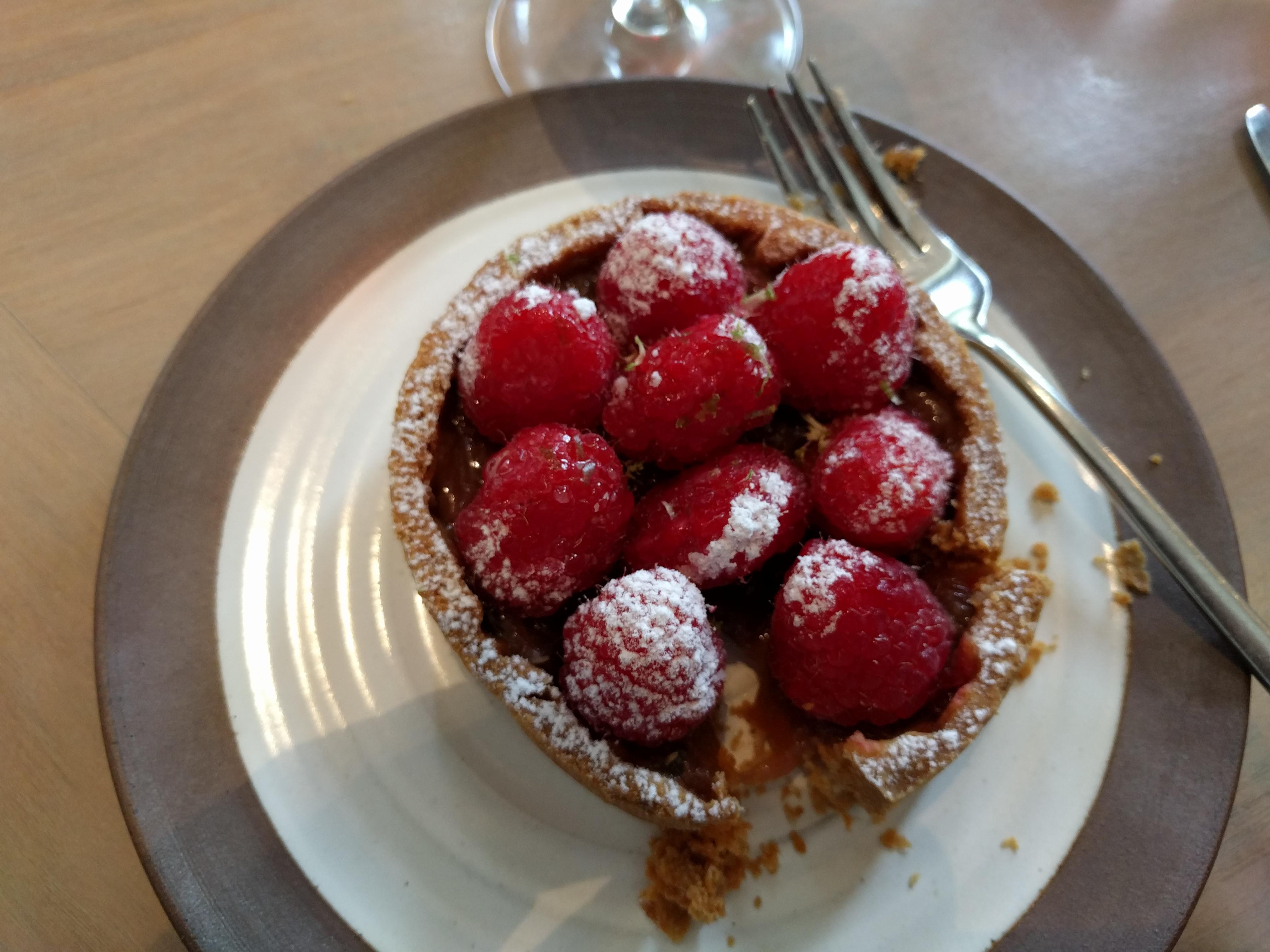 Bernie's raspberry tart