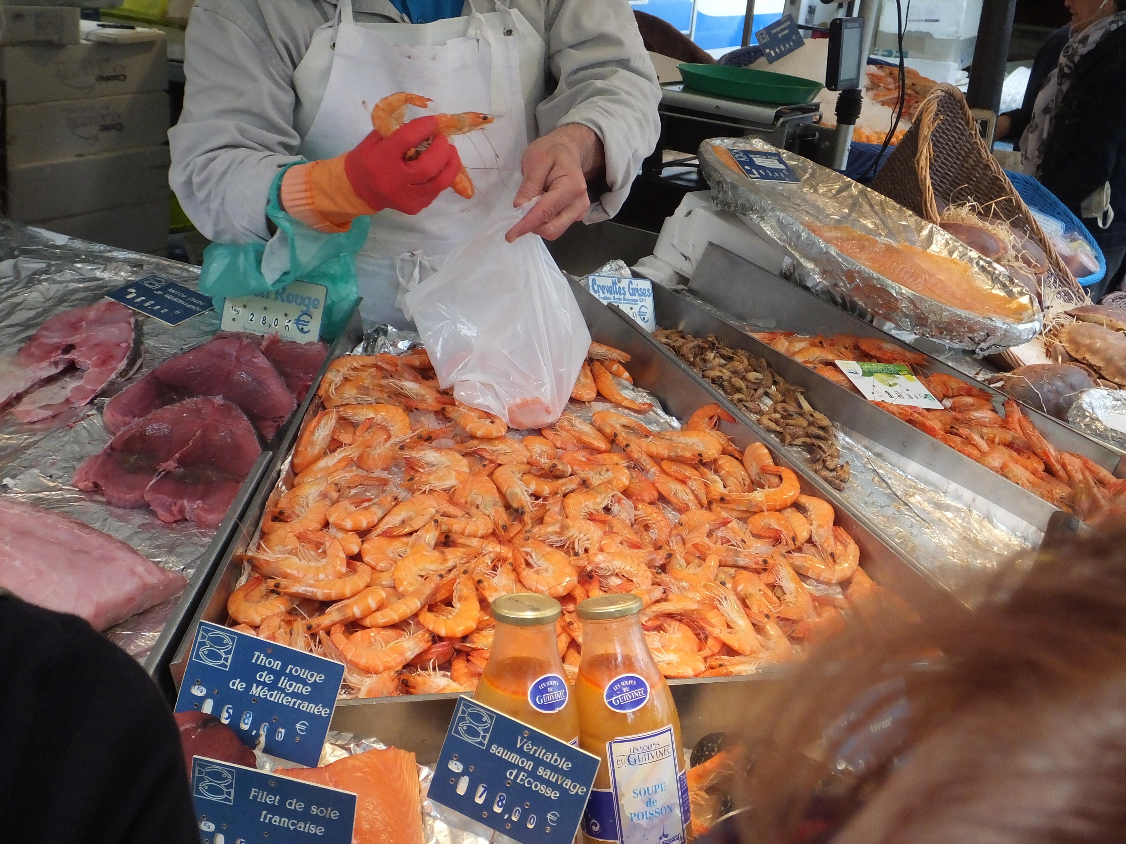 Les crevettes or shrimp