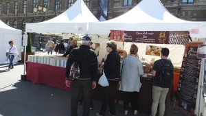 A Bio street fair which reminded us of Green Street Market