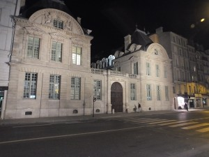Hotel de Sully at night near our apartment