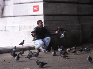 The pigeon man at Montmartre