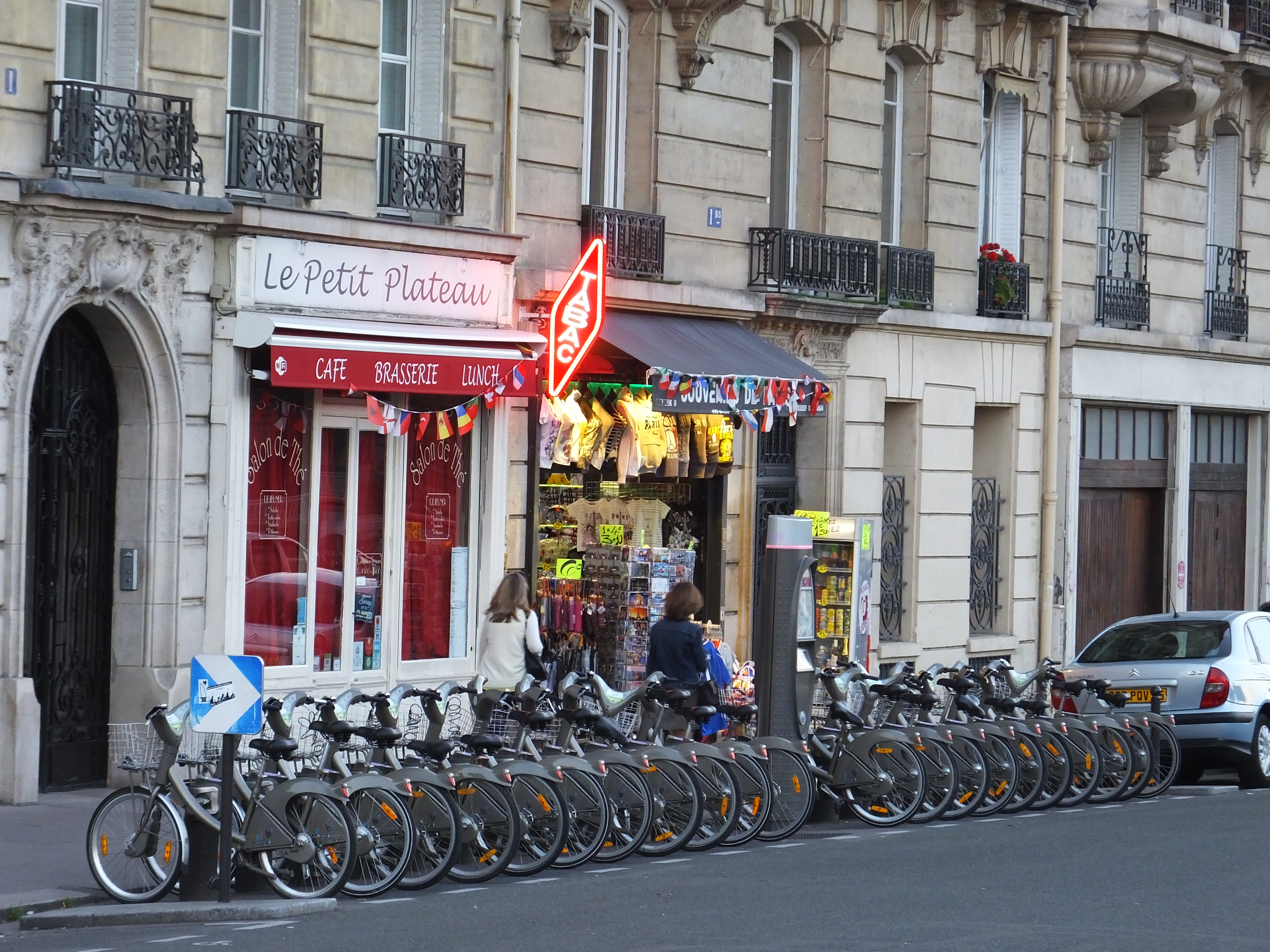 Always a TABAC and the rental bikes.