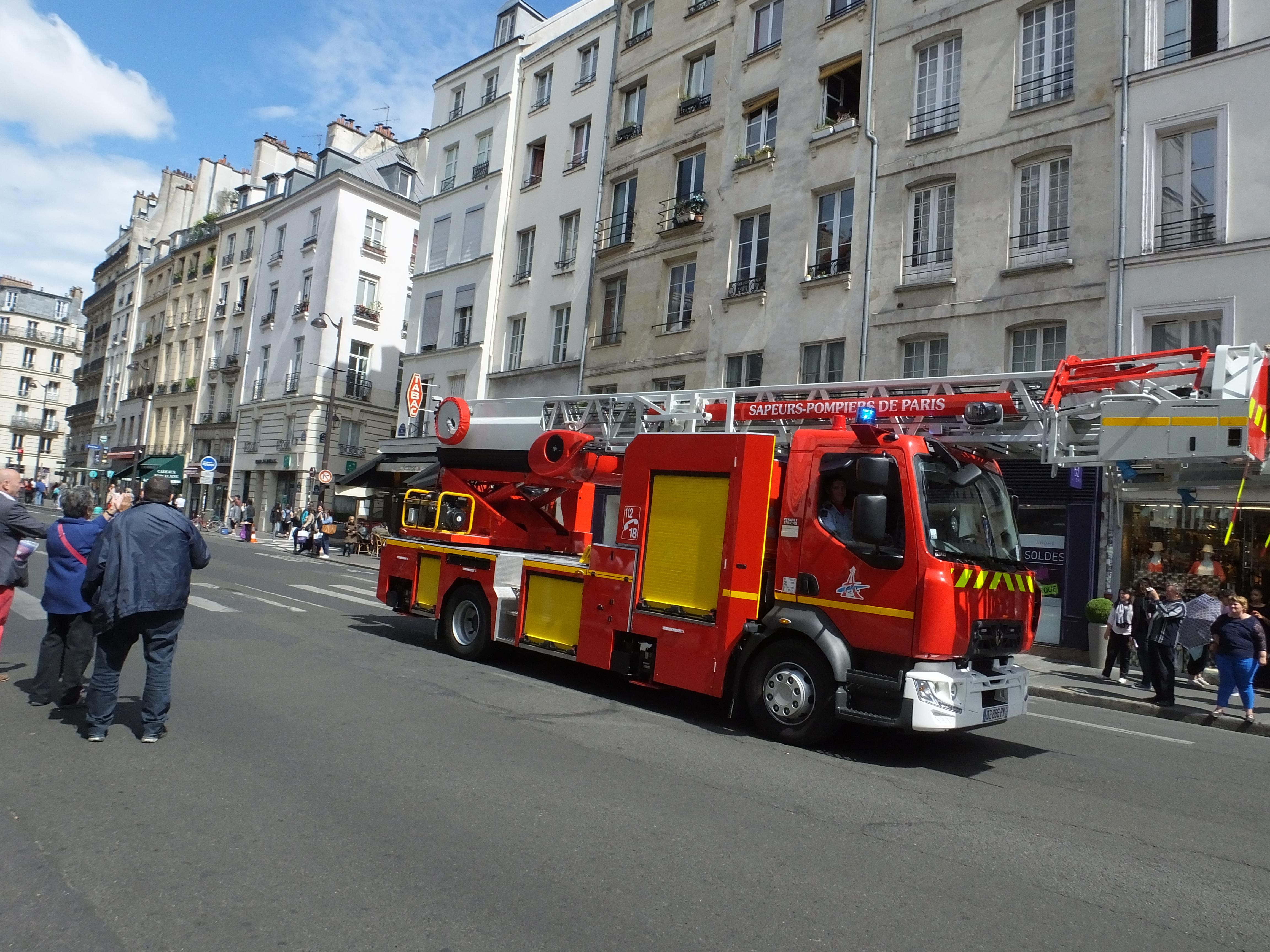 The beloved pompiers or firemen